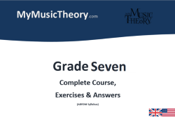 Grade 7 music theory course pdf download