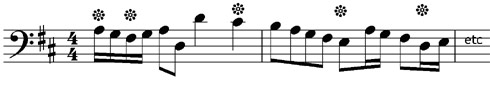 Give the letter names of these notes - Grade One Music Theory Exercises