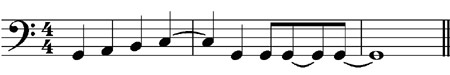 Correct the mistakes with tied notes  - grade 1 music theory exercises