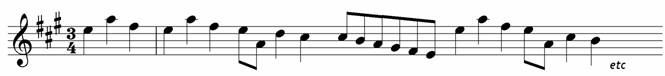 Add the missing barlines to this tune - grade two music theory question