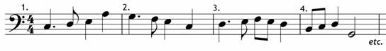 Find the notes of the tonic triad