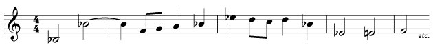Tune with accidentals - grade two music theory