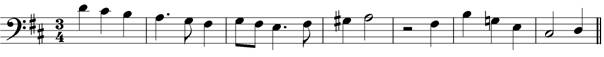 bass clef melody