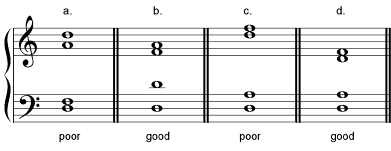 chords spacing satb