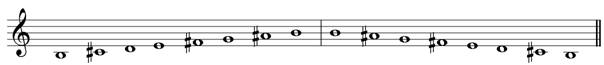 B minor harmonic treble