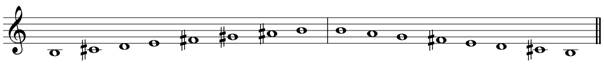 B minor melodic treble