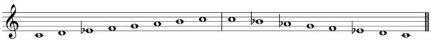 C minor melodic treble