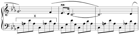 Rewrite the bars marked x using the clef provided