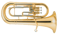 The euphonium uses the tenor clef