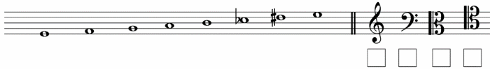 clef for each scale 1 abrsm