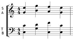 Incorrect stem direction in short score