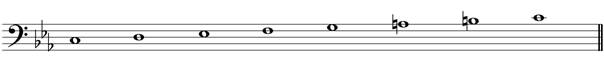 minor melodic scale