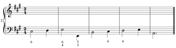 Figured bass exercise 2