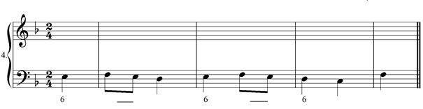 Figured bass exercise 4