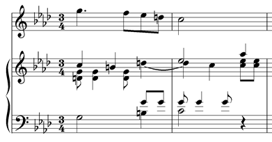 suspensions with piano accompaniment