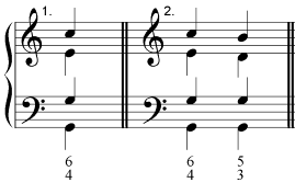 second inversion chord