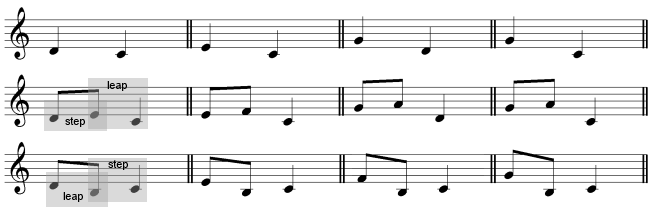 descending melodic intervals 1