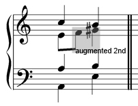 augmented-second-passing-note