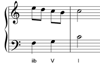 accented passing note harmonized