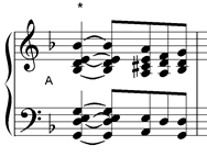 chord with asterisk grade 8 music theory
